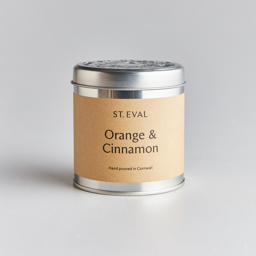 Orange & Cinnamon Scented Candle Tin by St Eval