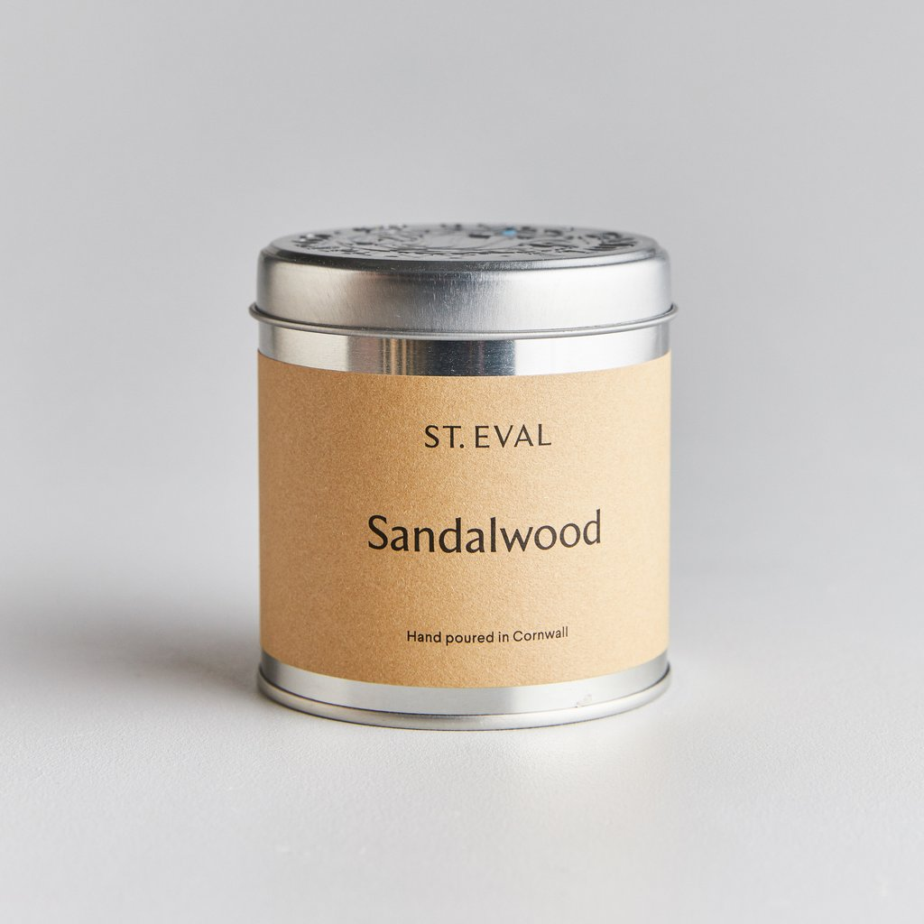 Sandalwood Scented Candle Tin by St Eval