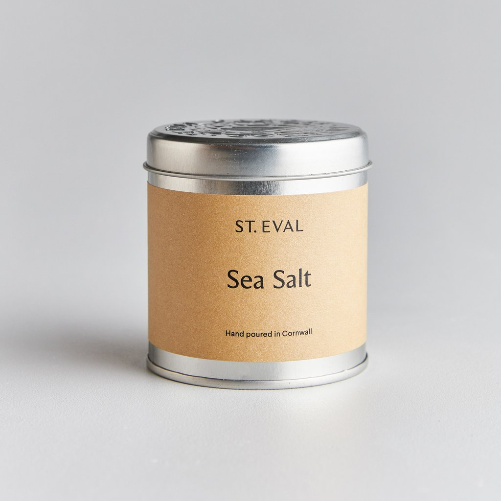 Sea Salt Scented Candle Tin by St Eval