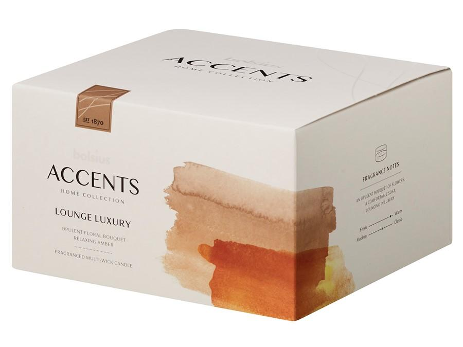 Accents Multiwick Candle Candle Bolsius Lounge Luxury