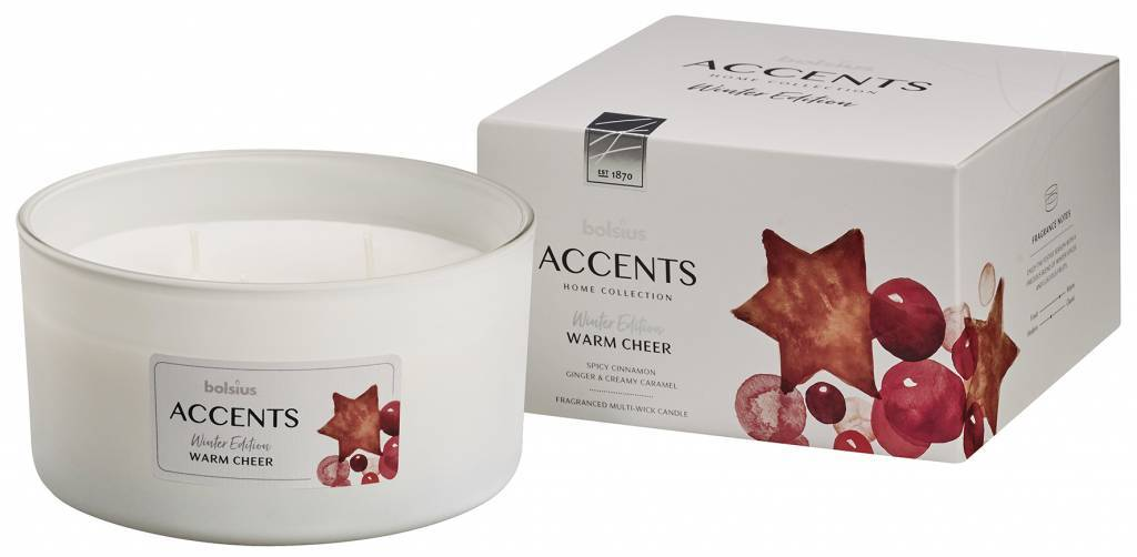 Accents Multiwick Candle - Winter Candle Bolsius Warm Cheer