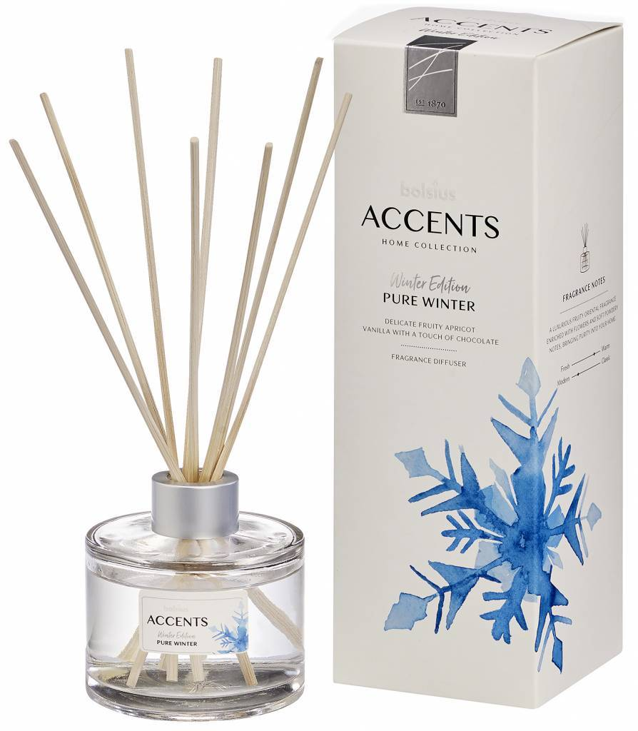 Accents Room Diffuser - Winter Candle Bolsius Pure Winter