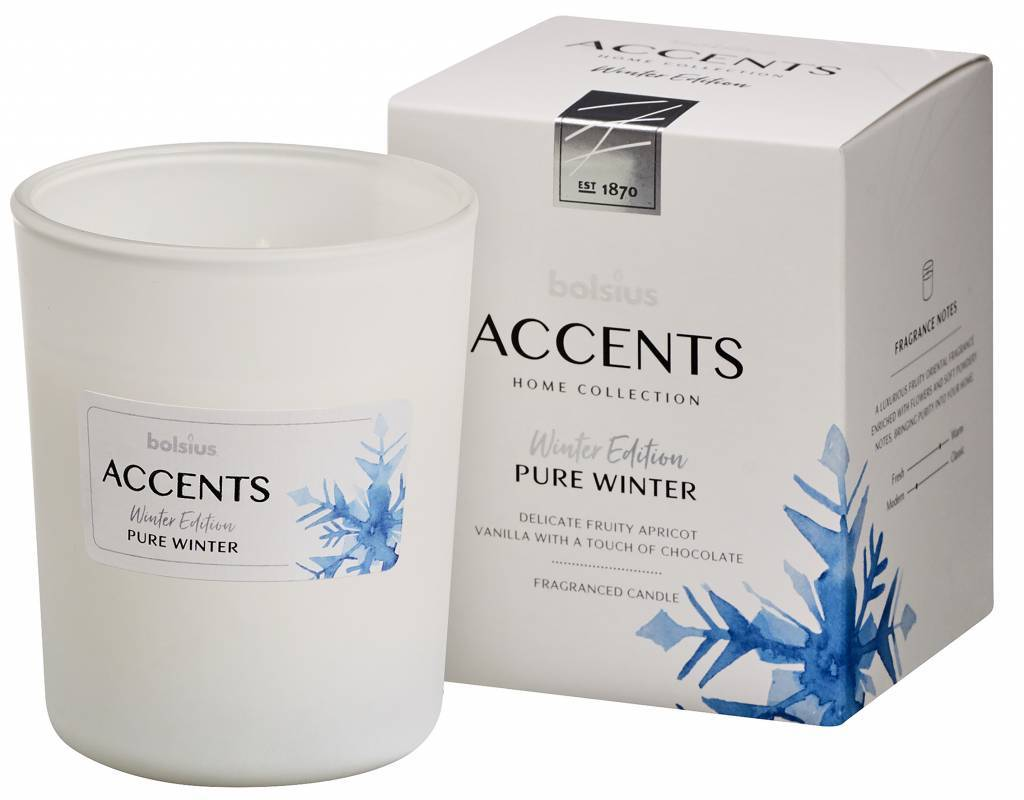 Accents Small Candle - Winter Candle Bolsius Pure Winter