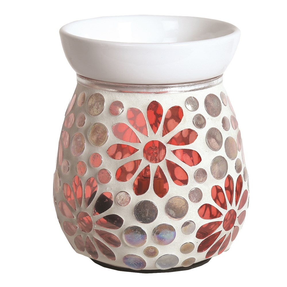 Pink Floral Electric Wax Burner