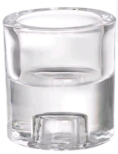 Bolsius 2 in 1 Clear Glass Tealight and Dinner Candle Holder Accessories Bolsius