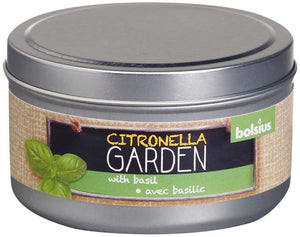Citronella Candle Tin Outdoor Bolsius Basil