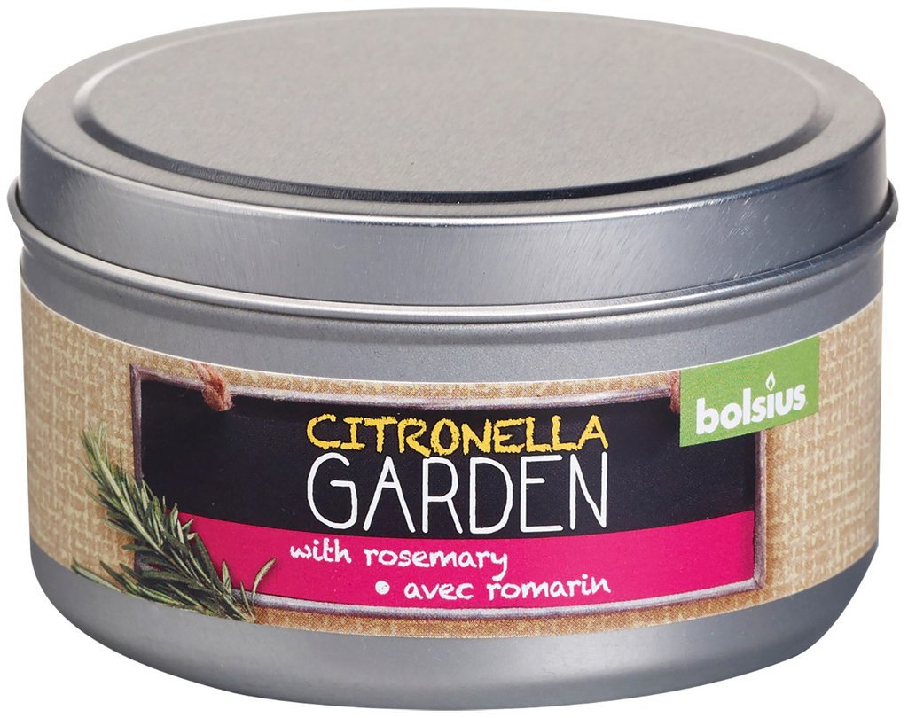 Citronella Candle Tin Outdoor Bolsius rosemary