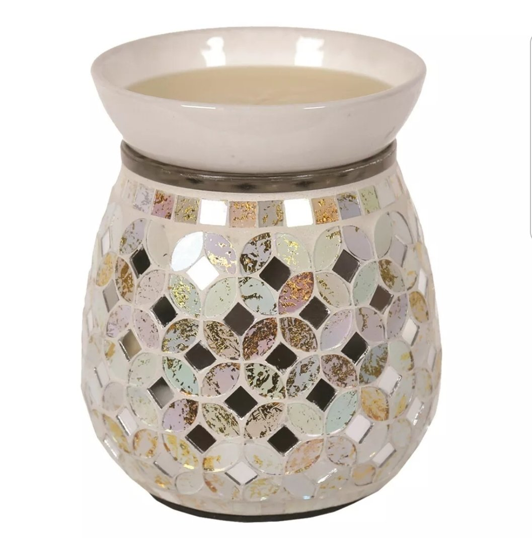 Cream & Gold Mosaic Electric Burner Electric Burner Aromatize