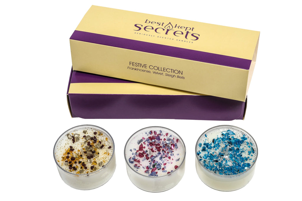 Festive Three Lites Candle Gift Set Candle Best Kept Secrets
