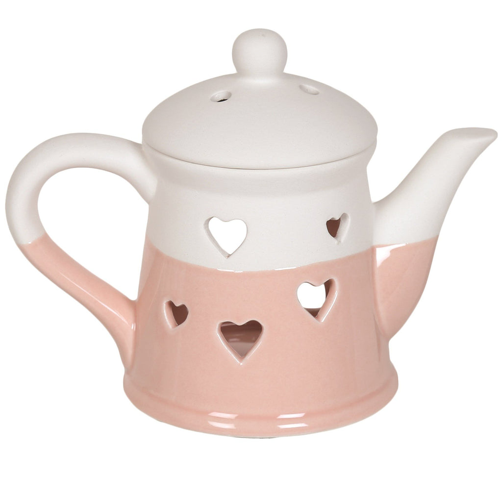 Heart Teapot Wax/Oil Burner - NO LID Electric Burner Aromatize Pink