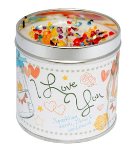 I Love You Just Because... Candle Tin Best Kept Secrets