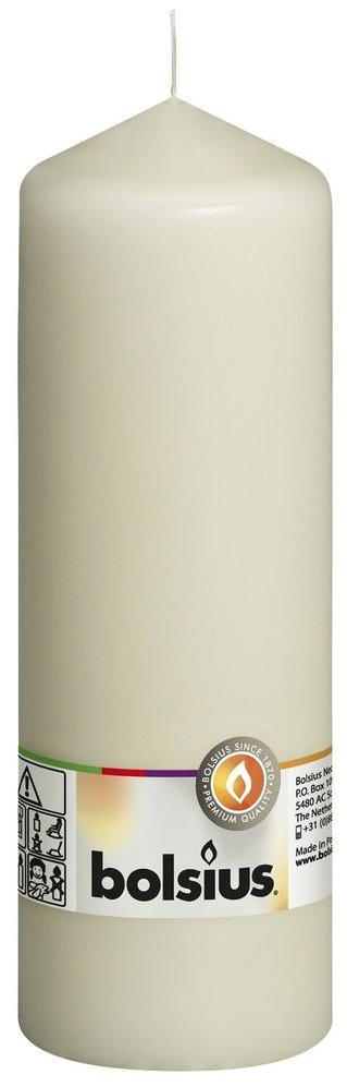 Ivory Pillar Candle - 200x70mm Pillar Bolsius