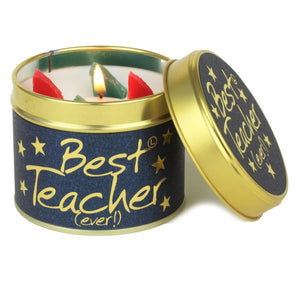 Lily Flame Best Teacher ever Candle Tin Candle Tin Lily Flame
