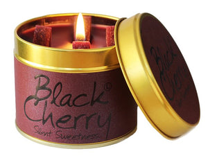Lily Flame Black Cherry Candle Tin Candle Tin Lily Flame