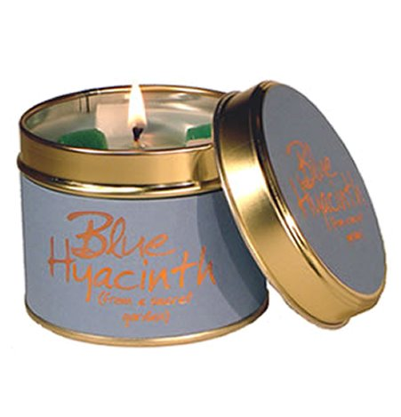 Lily Flame Blue Hyacinth Candle Tin Candle Tin Lily Flame