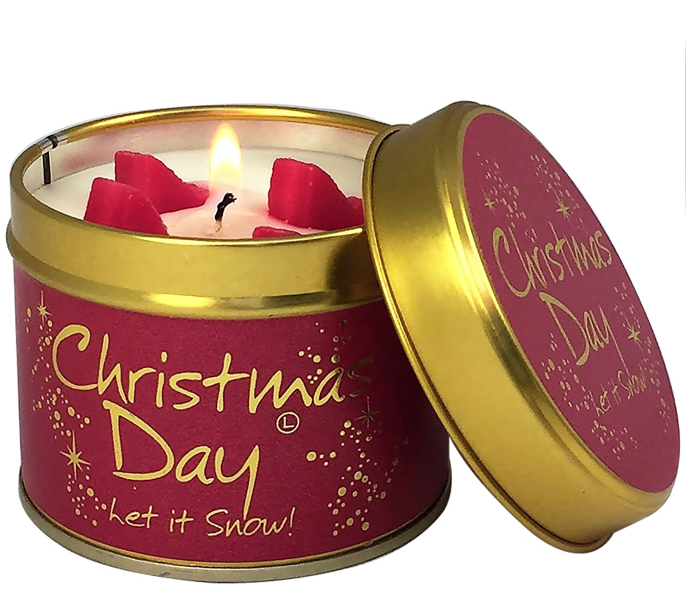 Lily Flame Christmas Day Candle Tin Candle Tin Lily Flame