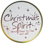 Lily Flame Christmas Spirit Candle Tin Candle Tin Lily Flame