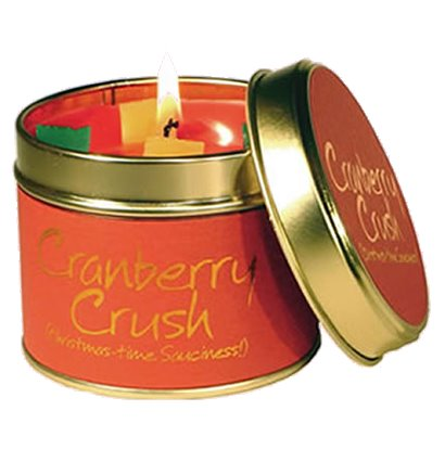Lily Flame Cranberry Crush Candle Tin Candle Tin Lily Flame