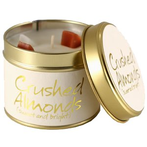 Lily Flame Crushed Almonds Candle Tin Candle Tin Lily Flame