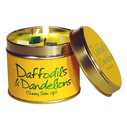 Lily Flame Daffodils & Dandelions Candle Tin Candle Tin Lily Flame