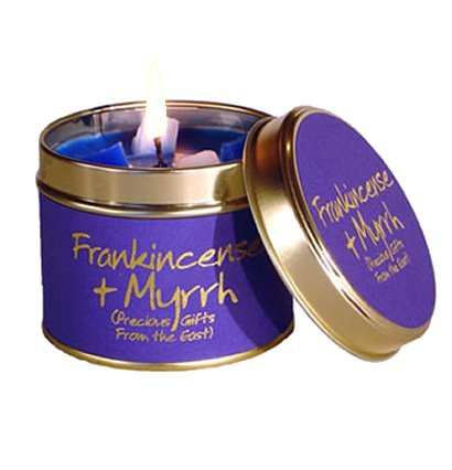 Lily Flame Frankincense & Myrrh Candle Tin Candle Tin Lily Flame