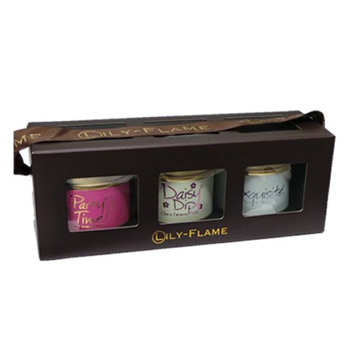 Lily Flame Girly 2 Mini Tins Boxed Set Candle Tin Lily Flame