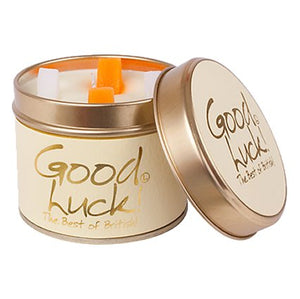 Lily Flame Good Luck Candle Tin - Yellow Candle Tin Lily Flame