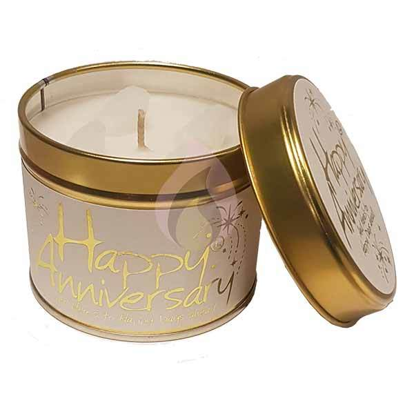 Lily Flame Happy Anniversary Candle Tin Candle Tin Lily Flame