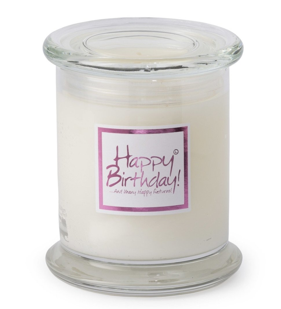 Lily Flame Happy Birthday Glass Jar Candle Lily Flame