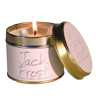 Lily Flame Jack Frost Candle Tin Candle Tin Lily Flame