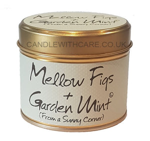 Lily Flame Mellow Figs & Garden Mint Candle Tin Candle Tin Lily Flame