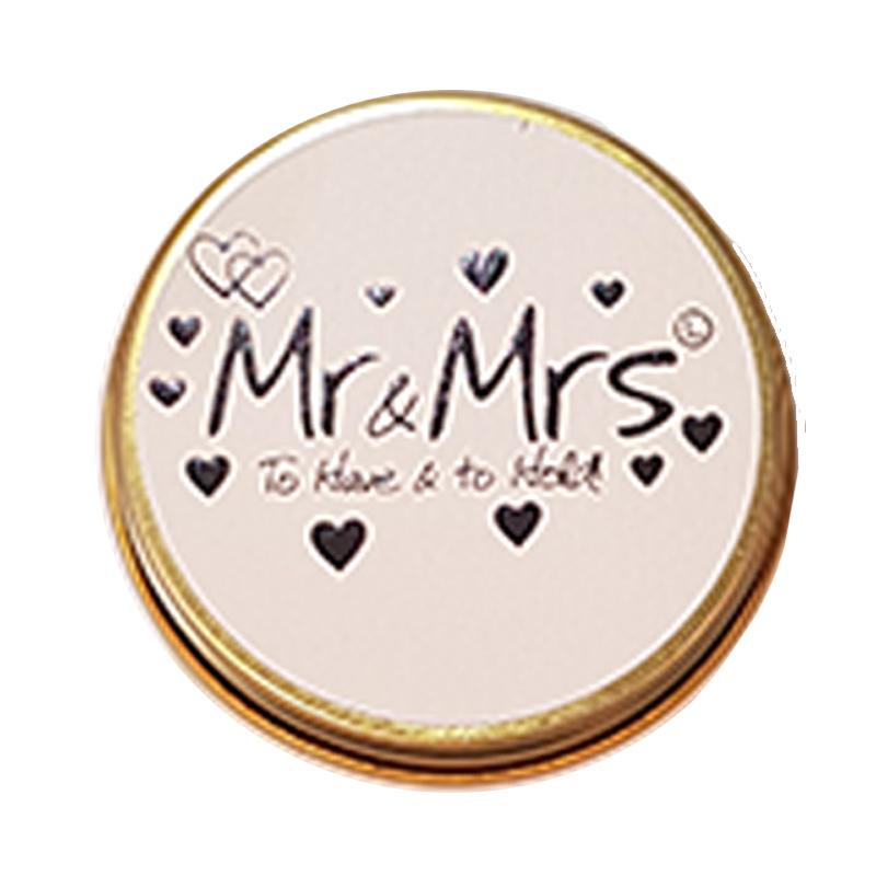 Lily Flame Mr & Mrs Candle Tin Candle Tin Lily Flame