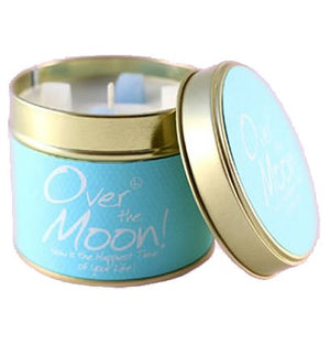 Lily Flame Over The Moon Candle Tin Candle Tin Lily Flame