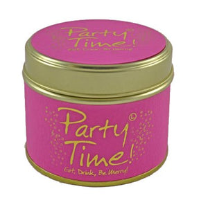 Lily Flame Party Time Candle Tin Candle Tin Lily Flame