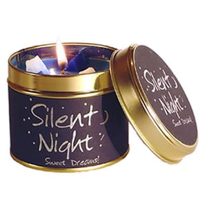Lily Flame Silent Night Candle Tin Candle Tin Lily Flame