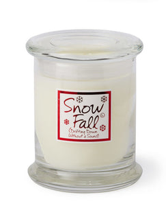 Lily Flame Snow Fall Candle Jar Candle Jar Lily Flame