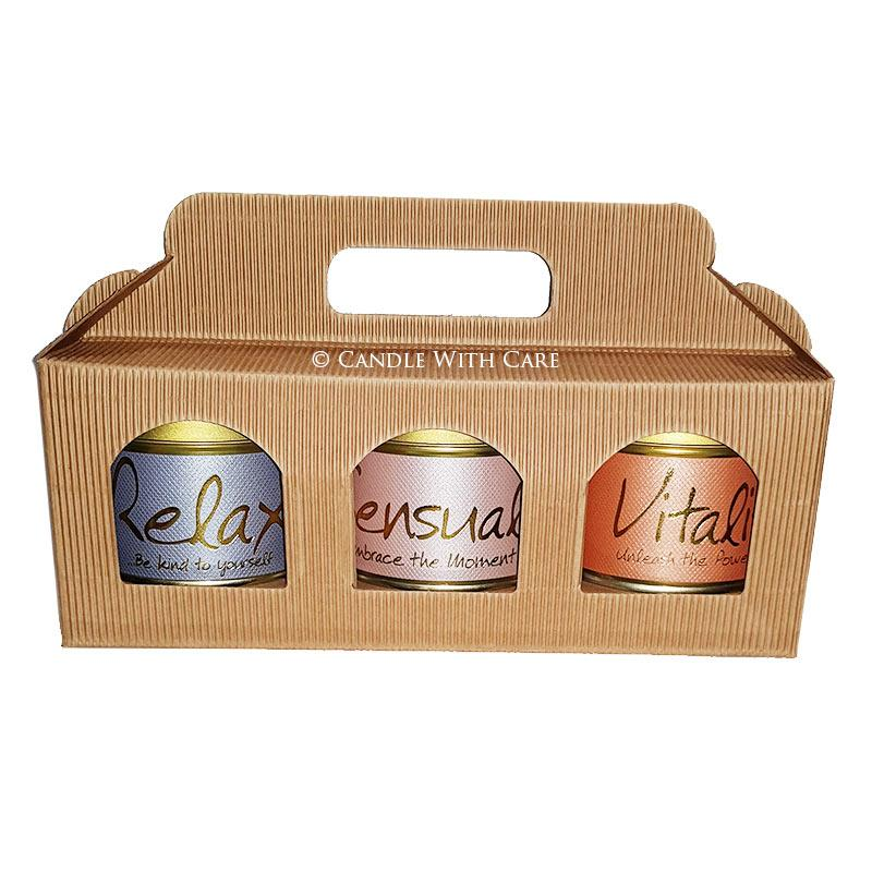 Lily Flame Spa Gift Set Candle Tin Lily Flame