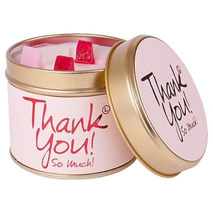 Lily Flame Thank You Candle Tin Candle Tin Lily Flame