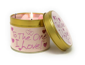 Lily Flame To the one I Love Candle Tin Candle Tin Lily Flame