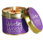 Lily Flame Winter Wood Candle Tin Candle Tin Lily Flame