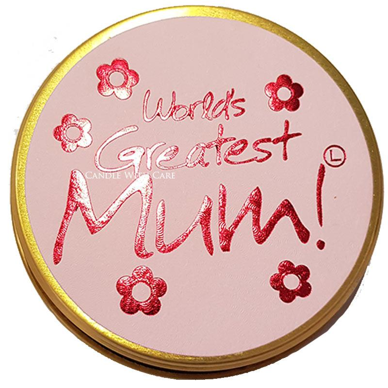 Lily Flame Worlds Greatest Mum Candle Tin Candle Tin Lily Flame