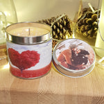 Personalise your own Candle Candle Tin Candle With Care