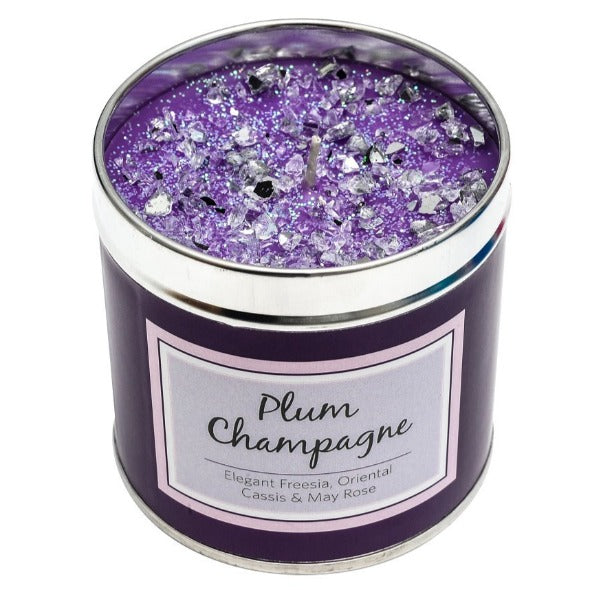 Plum Champagne Scented Candle Tin Candle Tin Best Kept Secrets