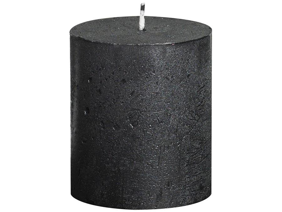 Rustic Pillar Candles - Anthracite Rustic Pillar Bolsius Small 80x68mm