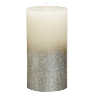 Rustic Pillar Candles - Fading Ivory Rustic Pillar Bolsius Medium 130x68mm