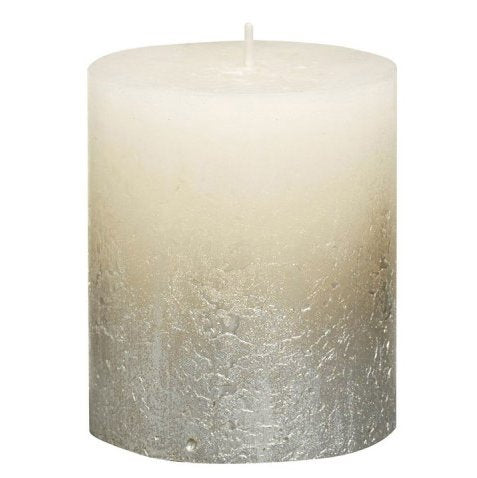 Rustic Pillar Candles - Fading Ivory Rustic Pillar Bolsius Small 80x68mm