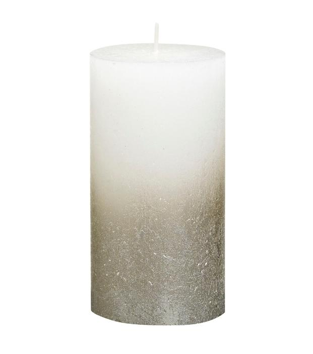Rustic Pillar Candles - Fading White Rustic Pillar Bolsius Medium 130x68mm