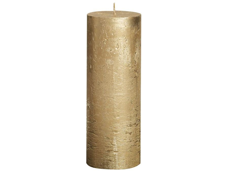 Rustic Pillar Candles - Gold Rustic Pillar Bolsius Large 190x68mm
