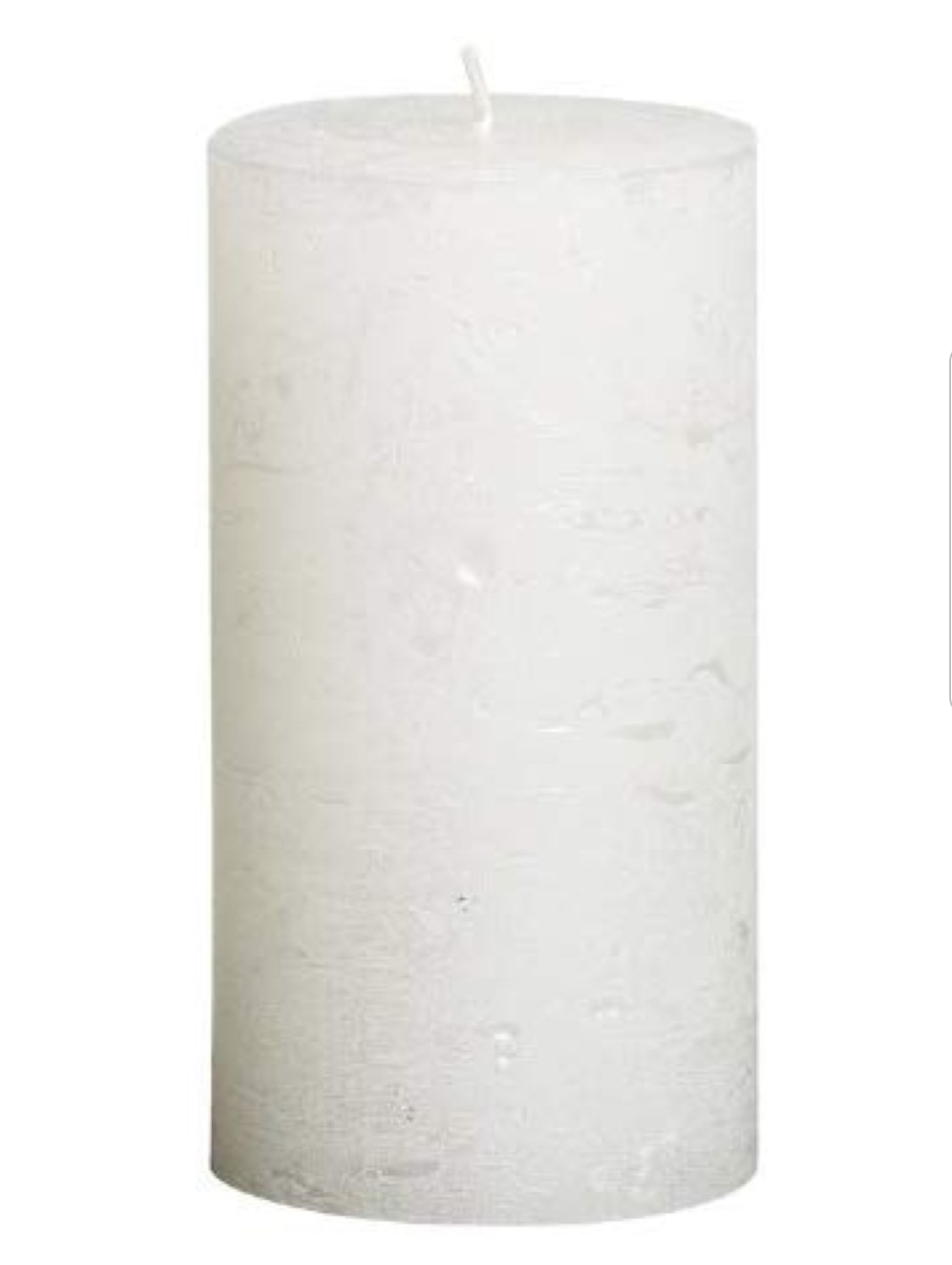 Rustic Pillar Candles - White Metallic Rustic Pillar Bolsius Medium 130x68mm