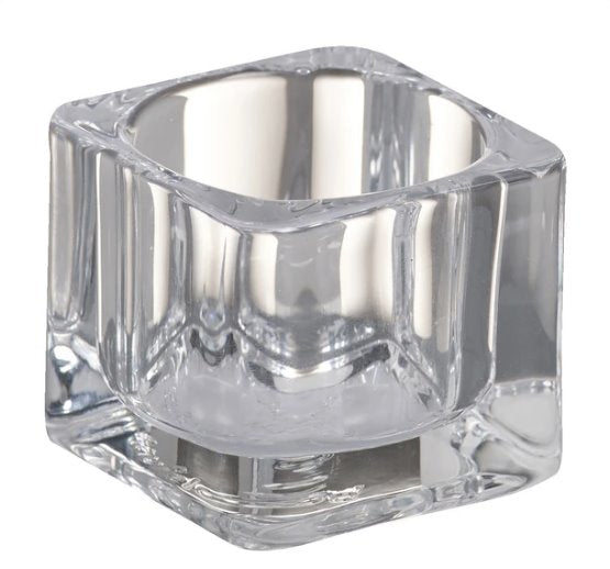 Small Square Glass Tealight holder Accessories Bolsius